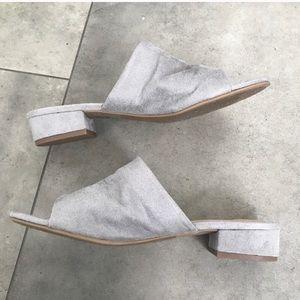 Suede slide sandals sz 6.5 or 6